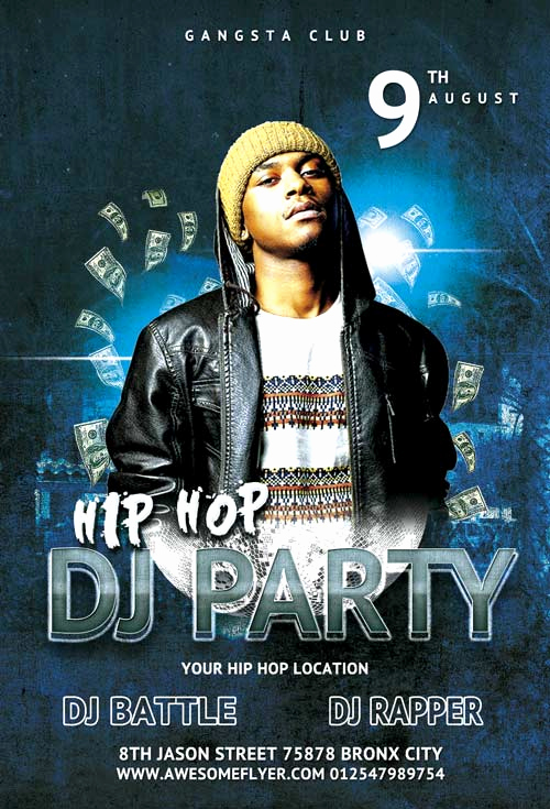 Club Flyer Templates Free Best Of Download the Hip Hop Dj Party Flyer