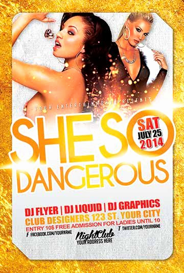 Club Flyer Templates Free Elegant Free She so Dangerous Club Psd Flyer Template