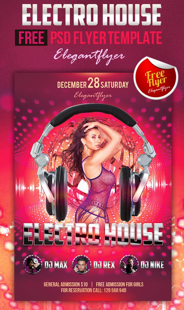 Club Flyer Templates Free Fresh 90 Awesome Free Psd Flyer Templates