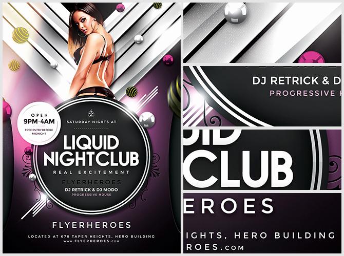 Club Flyer Templates Free Inspirational Liquid Nightclub Flyer Template Flyerheroes