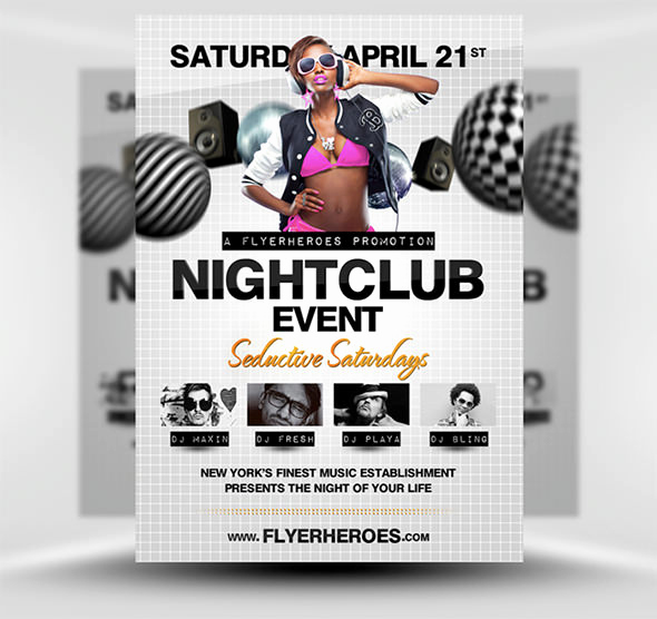 Club Flyer Templates Free New 31 Fabulous Night Club Flyer Templates & Psd Designs