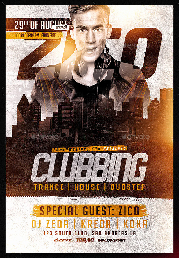 Club Flyer Templates Free New 43 Club Flyer Templates Psd Rtf Pdf format Download