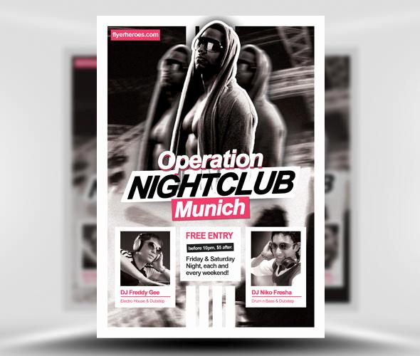 Club Flyer Templates Free Unique 31 Fabulous Night Club Flyer Templates & Psd Designs