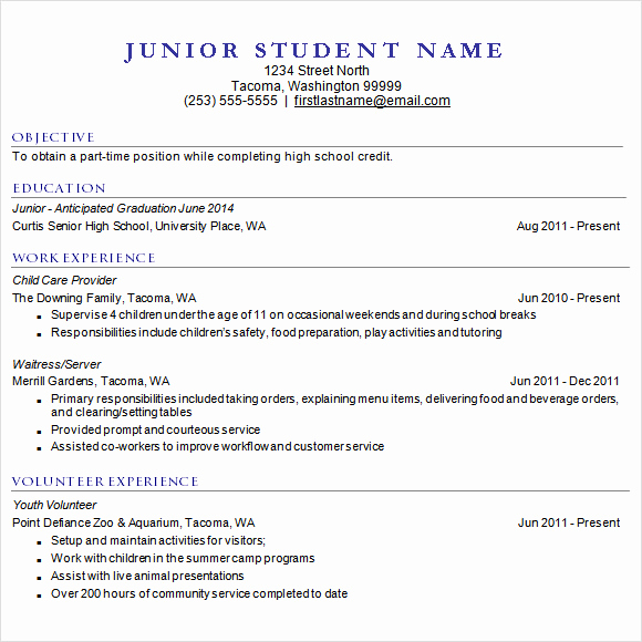 College Admission Resume Template Elegant 9 Sample College Resume Templates – Free Samples