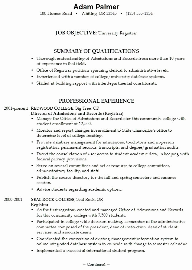 College Admission Resume Template Lovely College Application Resume Examples for High School