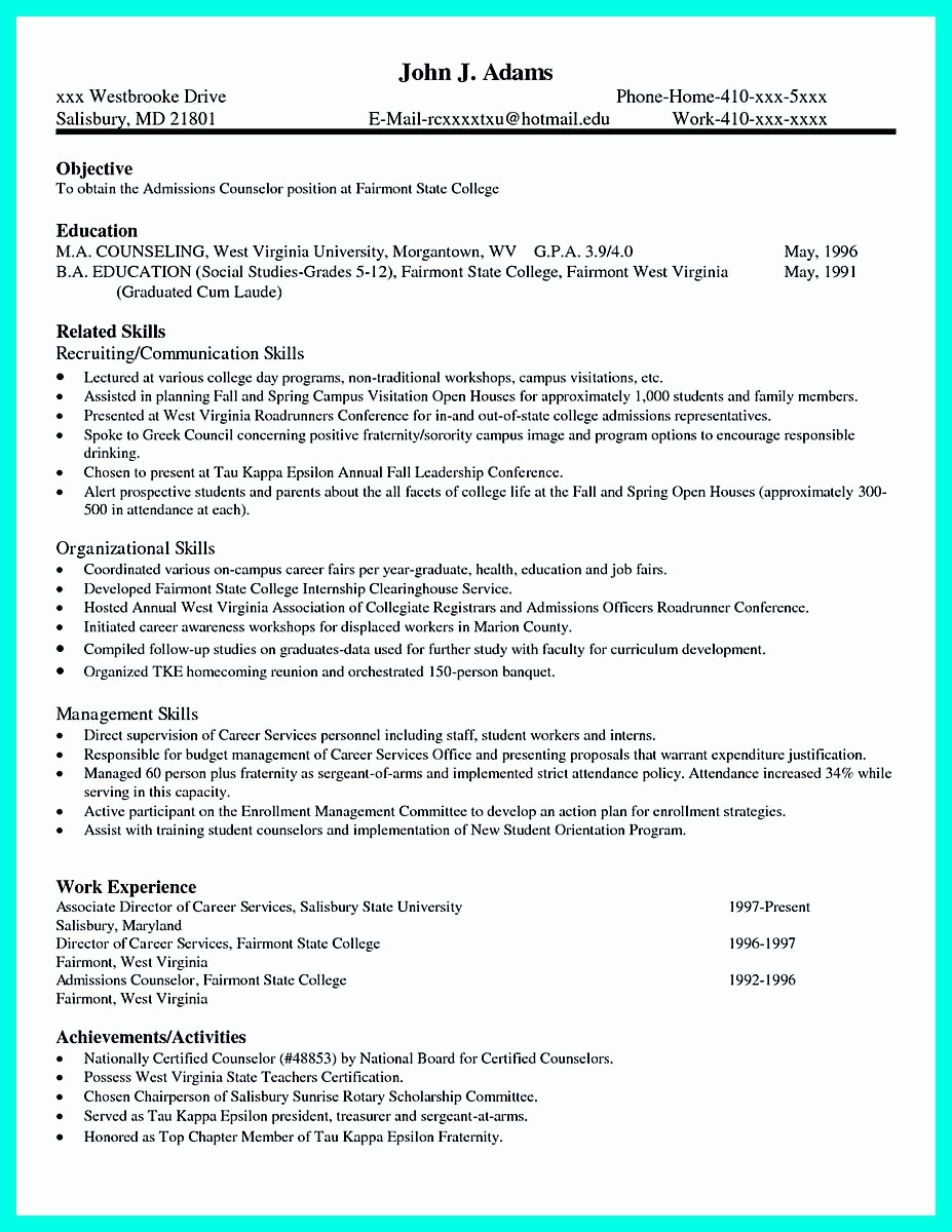 College Admission Resume Template Unique Pin On Resume Template