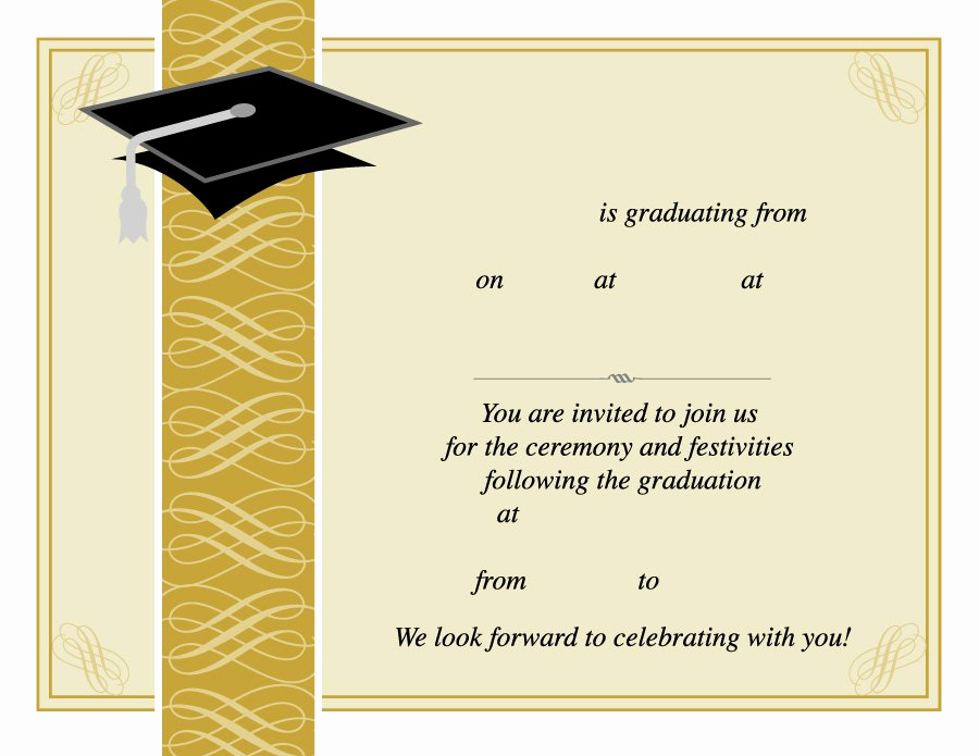 College Graduation Invitations Templates Beautiful 40 Free Graduation Invitation Templates Template Lab