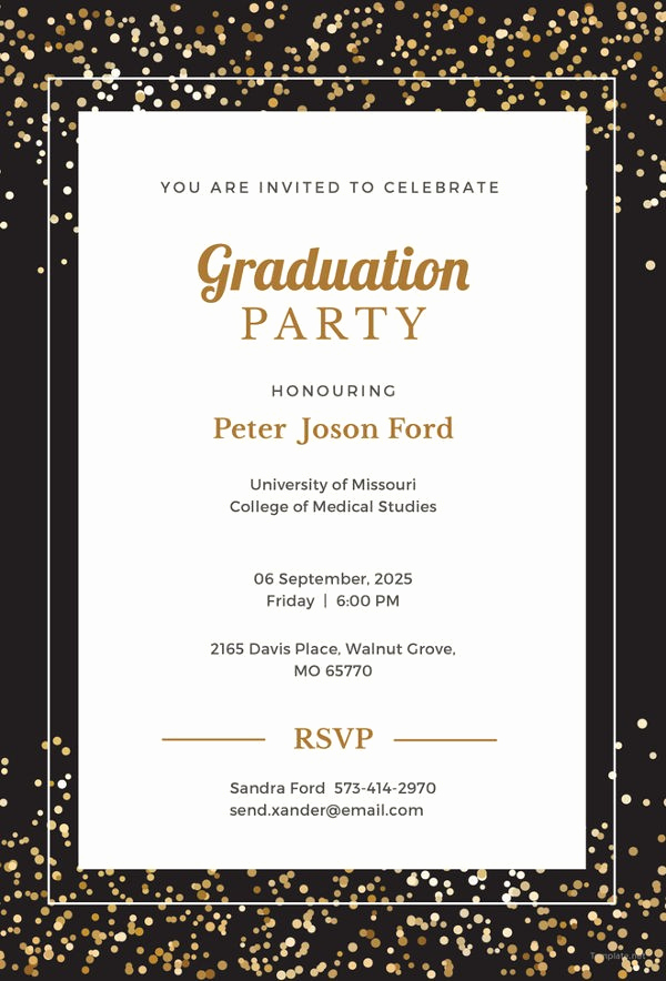 College Graduation Invitations Templates Best Of Graduate Invites Stunning High School Graduation Party