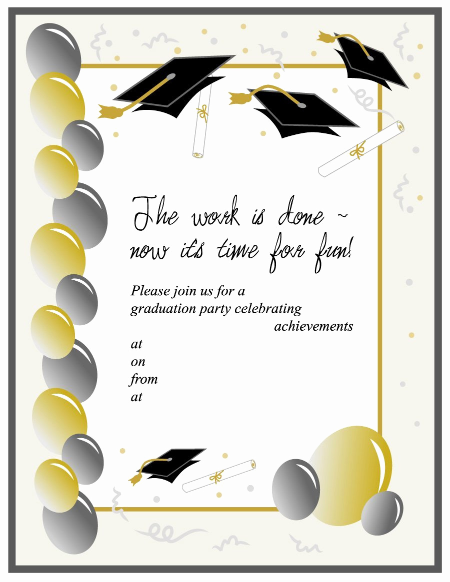 College Graduation Invitations Templates Fresh 40 Free Graduation Invitation Templates Template Lab