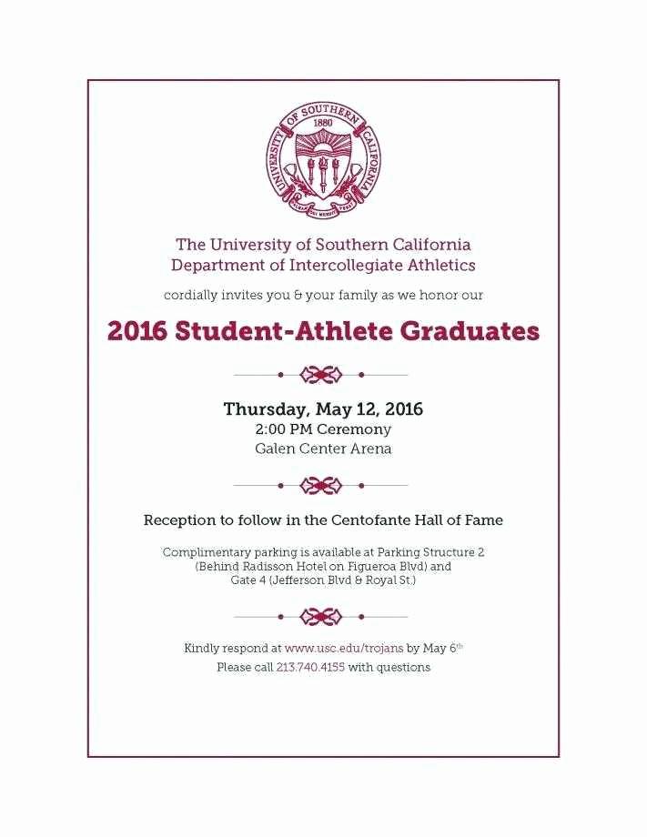 College Graduation Invitations Templates Inspirational College Graduation Announcement Template Elegant College