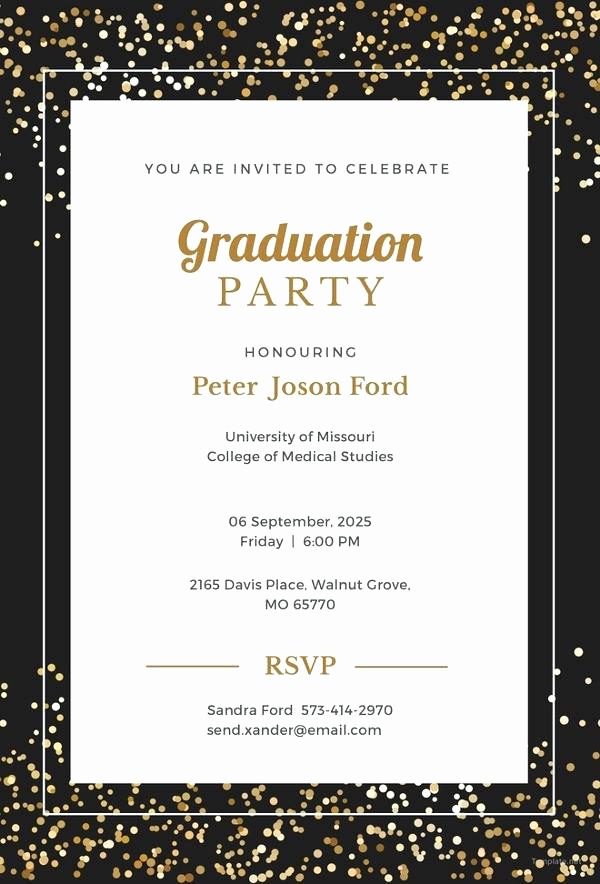 College Graduation Invitations Templates Inspirational College Graduation Invitation Template – Worldbestcatfo