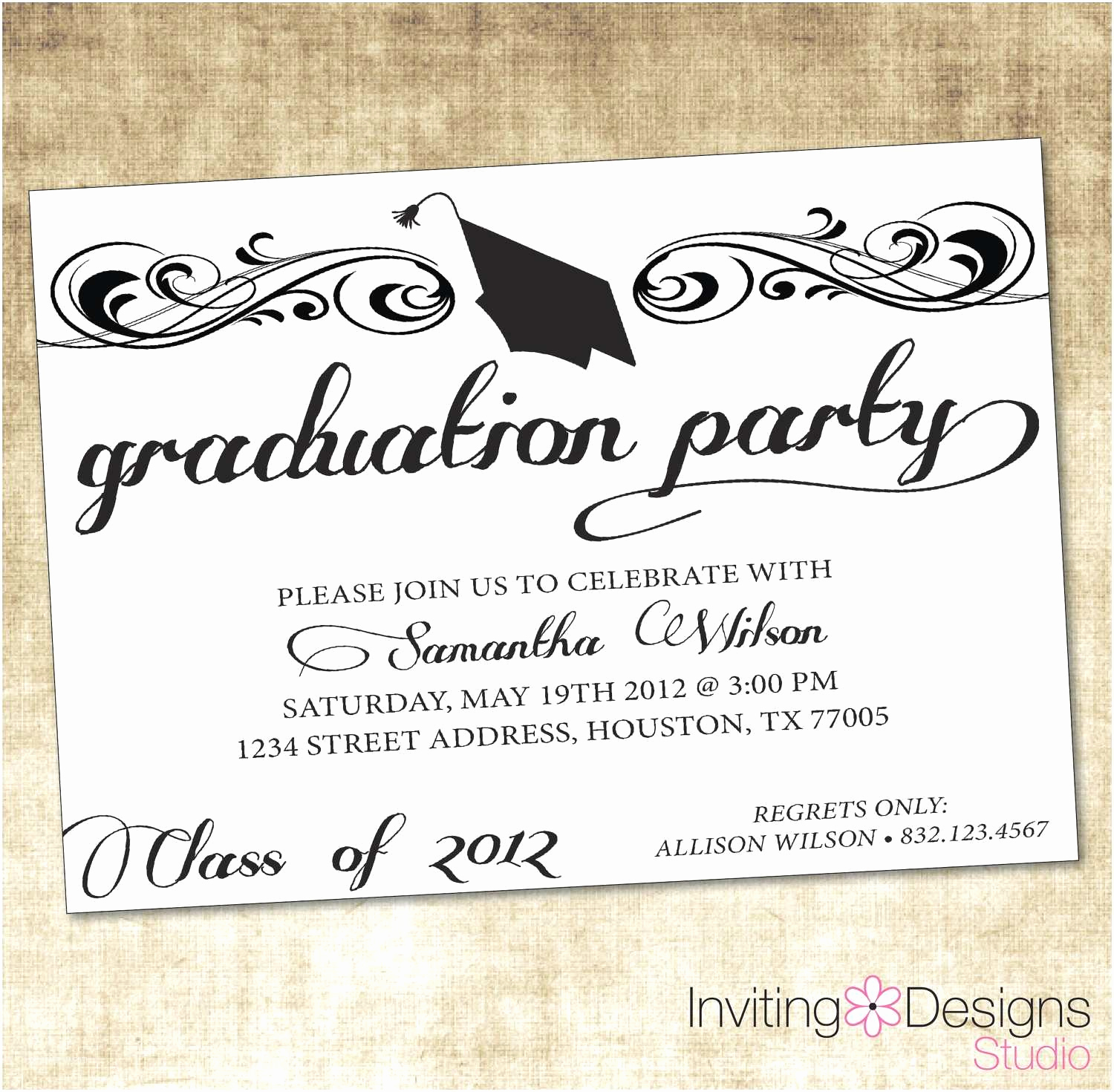 College Graduation Invitations Templates Inspirational College Graduation Party Invitations Templates Saab4fun