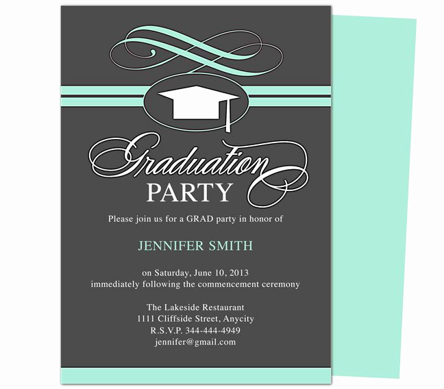 College Graduation Invitations Templates Inspirational Graduation Party Invitation Templates Swirl Graduation
