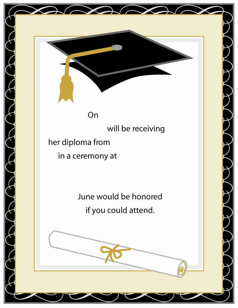 College Graduation Invitations Templates Lovely 40 Free Graduation Invitation Templates Template Lab