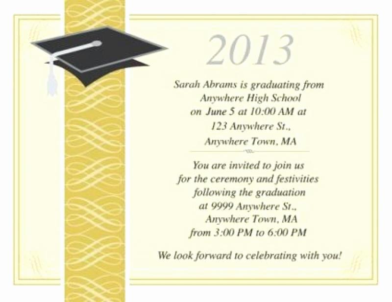 College Graduation Invitations Templates Lovely College Graduation Announcements Templates – First to