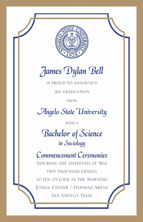 College Graduation Invitations Templates Lovely College Graduation Invitations Wordpress Blog