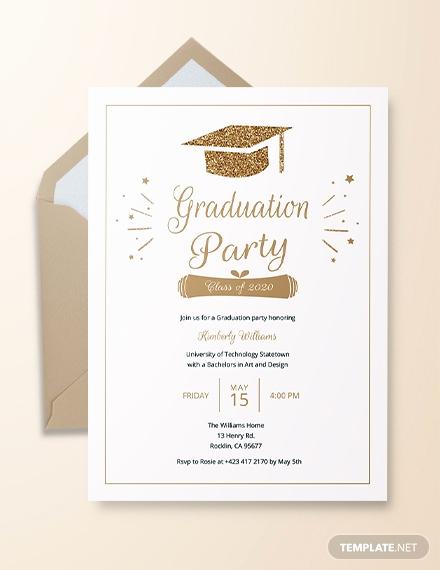 College Graduation Invitations Templates Luxury 25 Graduation Invitation Templates Psd Vector Eps Ai