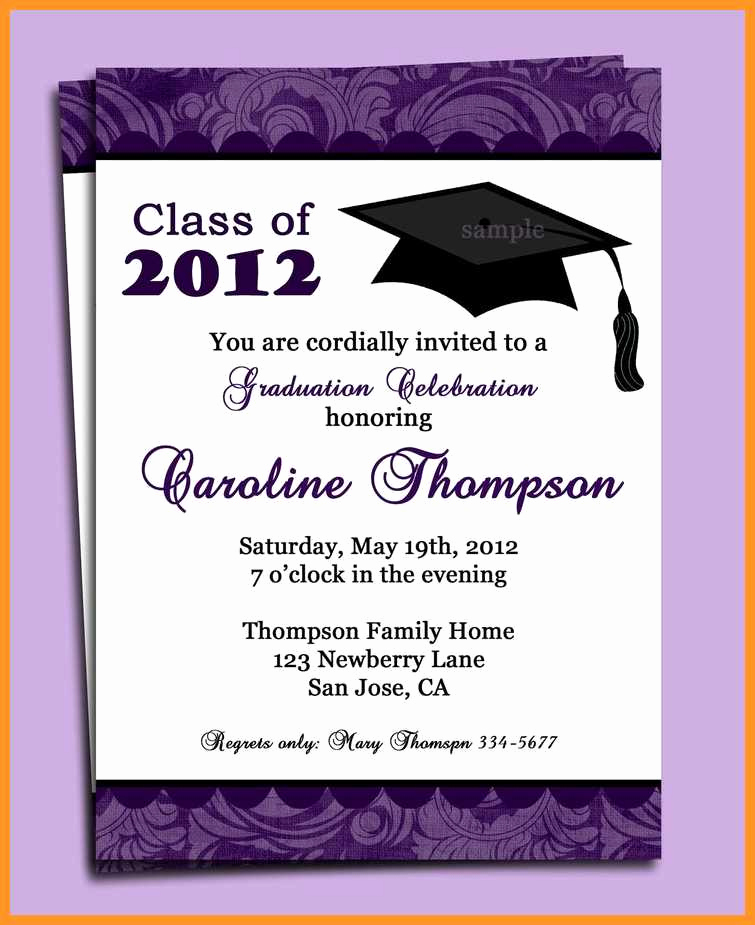 College Graduation Invitations Templates New 9 10 formal College Graduation Announcements