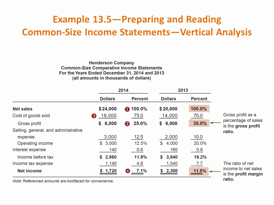 Common Size Income Statement Template Elegant Financial Statement Analysis Ppt