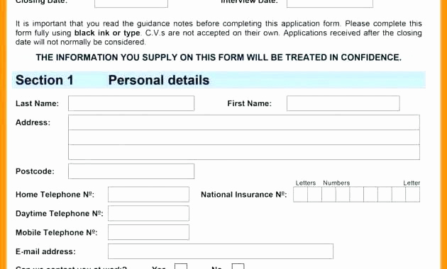 Construction Job Application Template Awesome Application for Construction Pany Job Employment