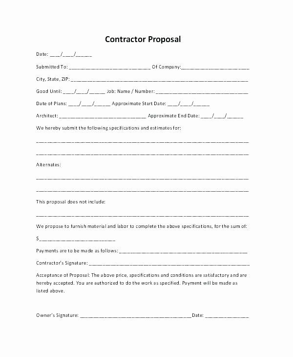 Construction Job Application Template Best Of Job Bid Proposal Template – Hydrellatonefo