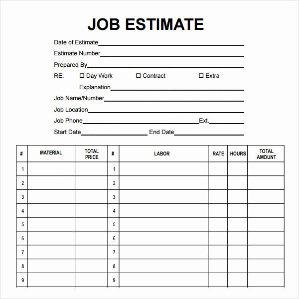 Construction Job Application Template Luxury 12 Sample Job Proposal Templates