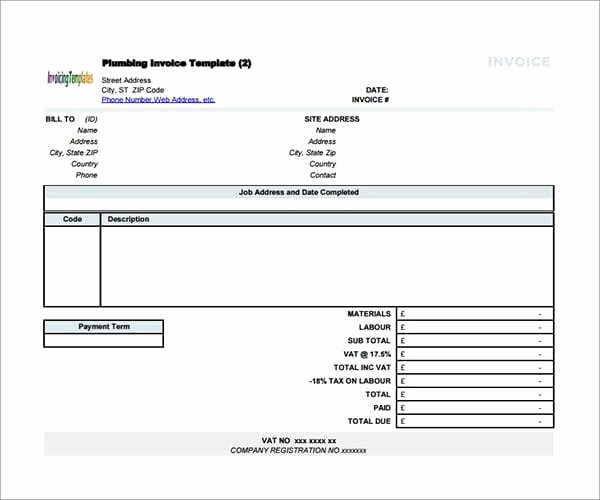 Contractor Invoice Template Word Beautiful 9 Contractor Invoice Templates Word Excel Pdf formats
