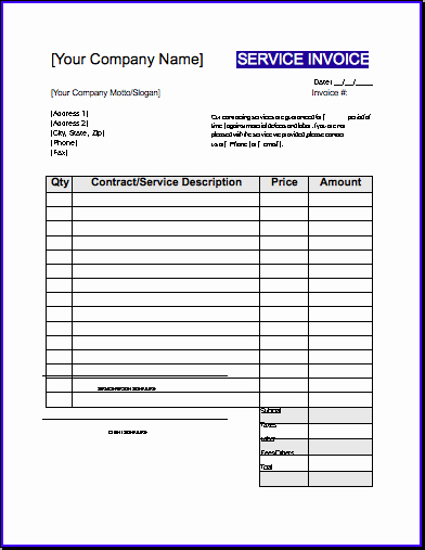 Contractor Invoice Template Word Best Of Contractor Invoice Template Uk