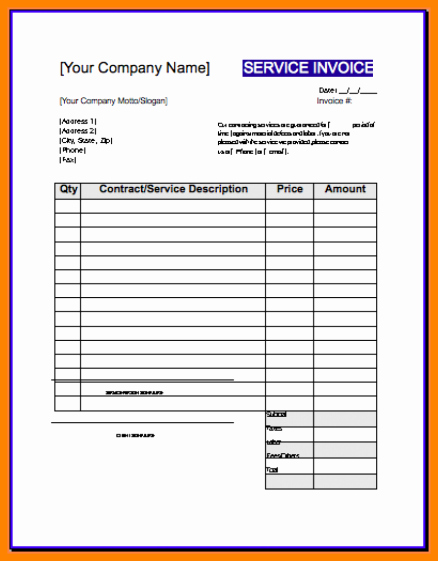 Contractor Invoice Template Word Best Of Free Contractor Invoice Template Word