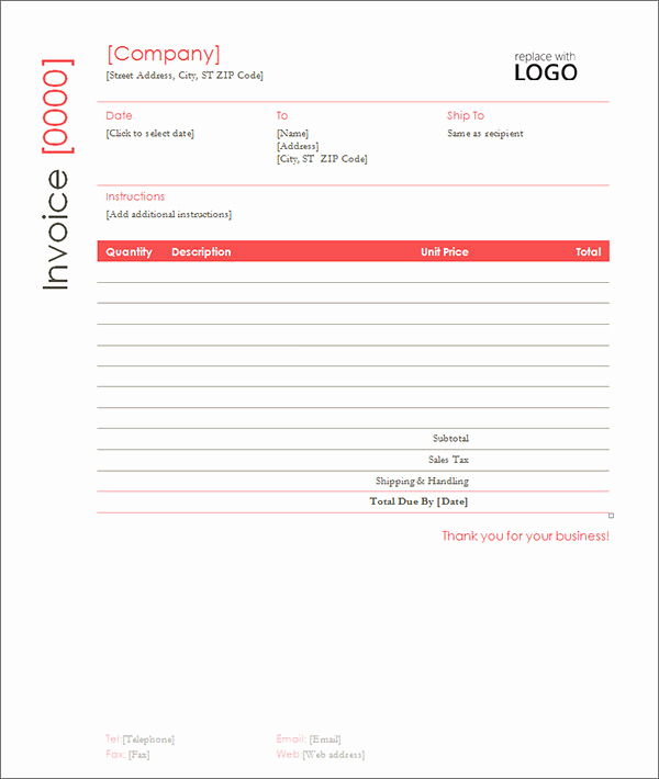 Contractor Invoice Template Word New Sample Contractor Invoice Templates 14 Free Documents