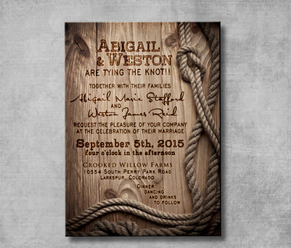 Cowboy Invitations Template Free Best Of Country Engagement Invitation Templates Templates