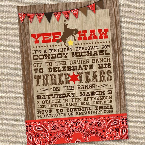 Cowboy Invitations Template Free Best Of Free Printable Cowboy Birthday Invitations