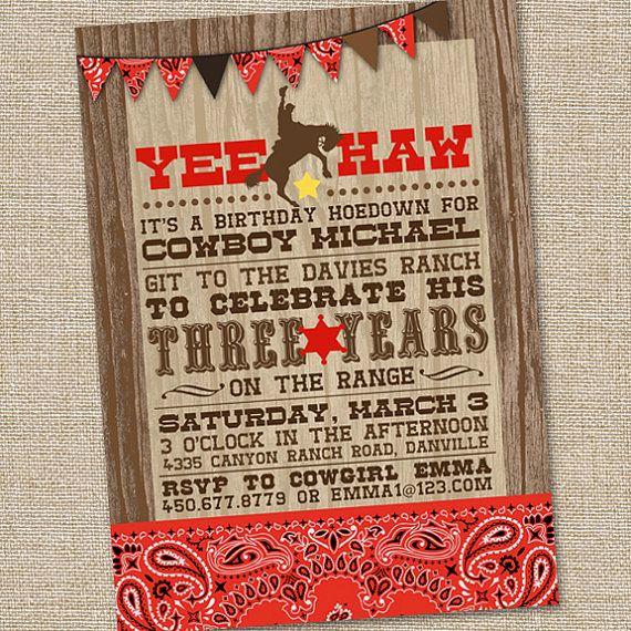 Cowboy Invitations Template Free Best Of Free Printable Cowboy Birthday Invitations