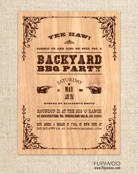 Cowboy Invitations Template Free Best Of Free Western Invitation Template