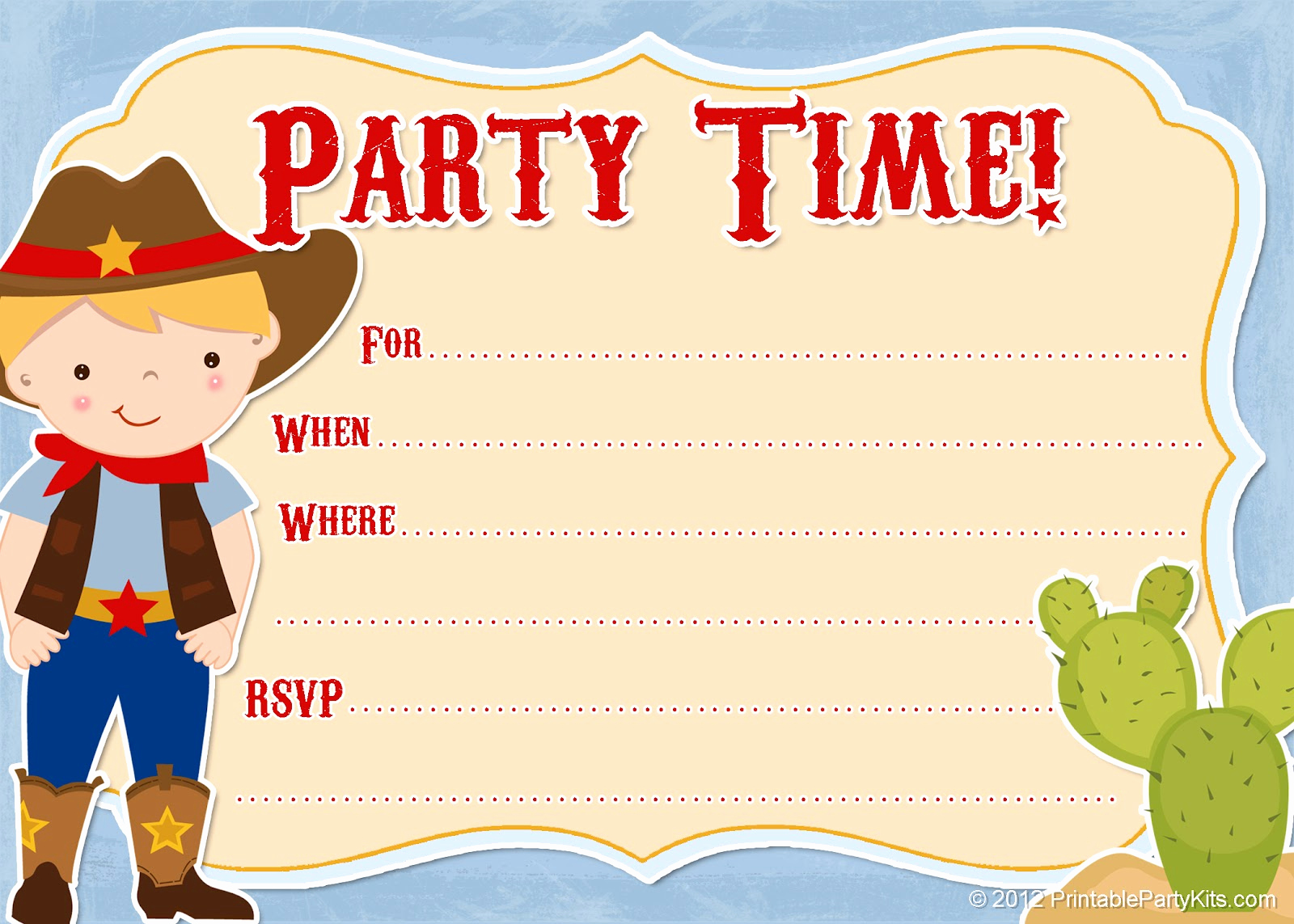 Cowboy Invitations Template Free Elegant Free Printable Party Invitations Free Printable Cowboy