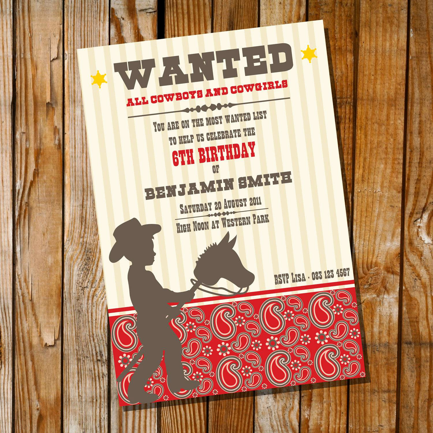 Cowboy Invitations Template Free Elegant Western Party Invitations