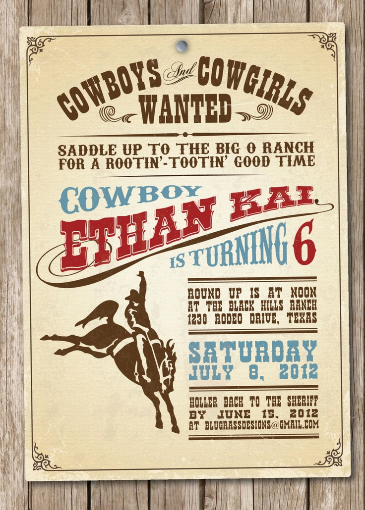 Cowboy Invitations Template Free Elegant Western theme Invitations Templates
