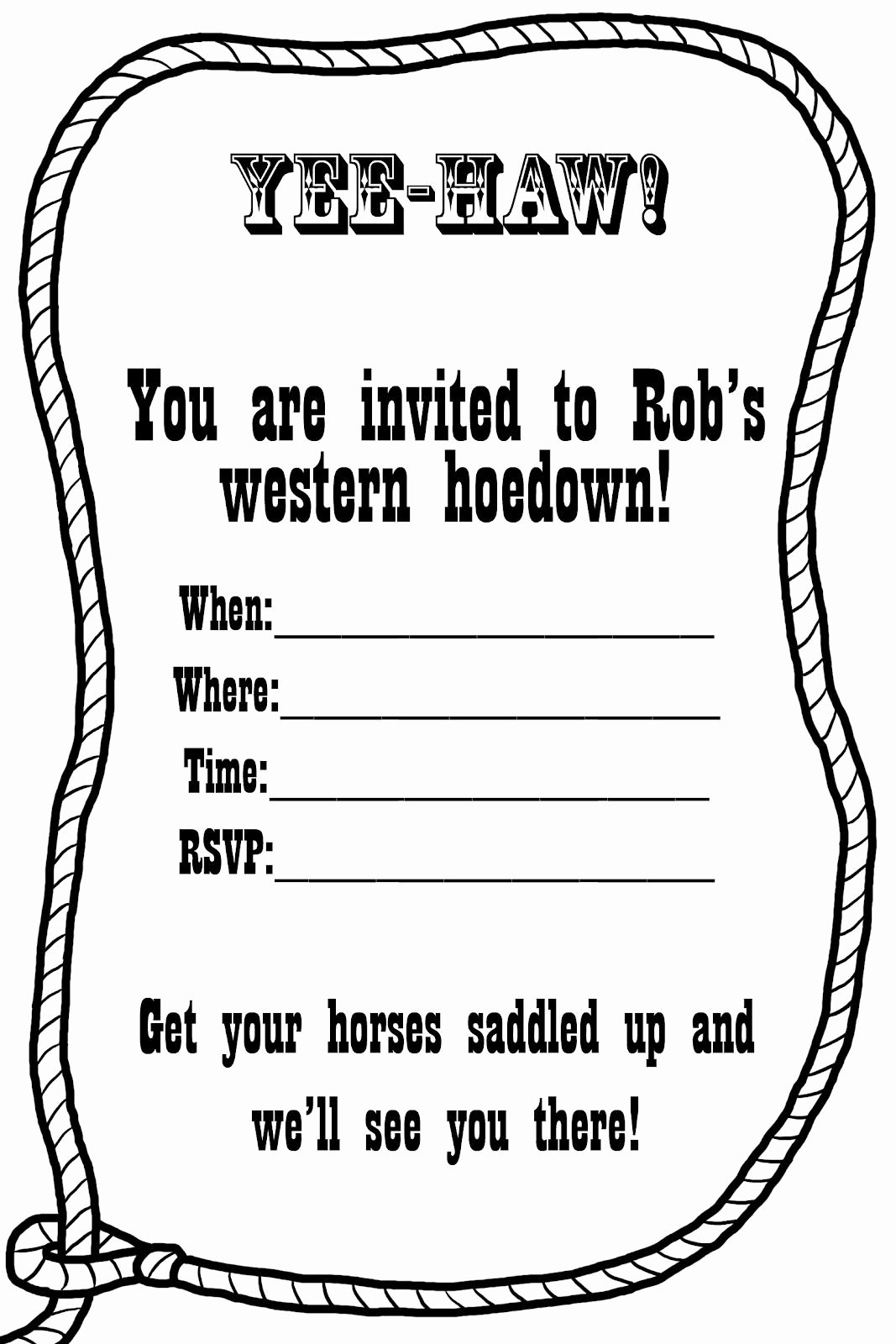 Cowboy Invitations Template Free Inspirational Free Western Invitation Templates