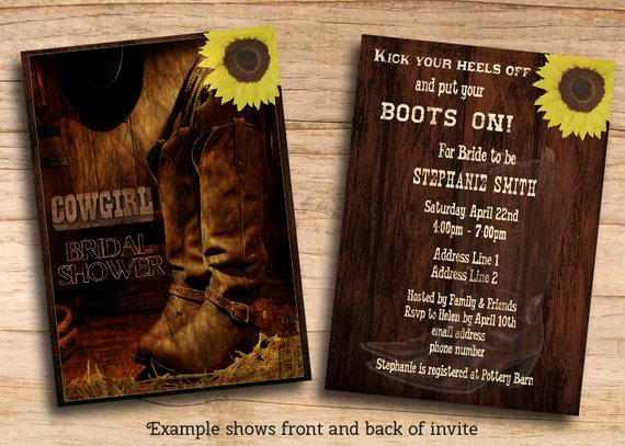 Cowboy Invitations Template Free Inspirational Items Similar to Printable Rustic Country Western Cowgirl