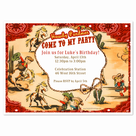 Cowboy Invitations Template Free Inspirational Vintage Cowboy Wranglers Party Invitations & Cards On