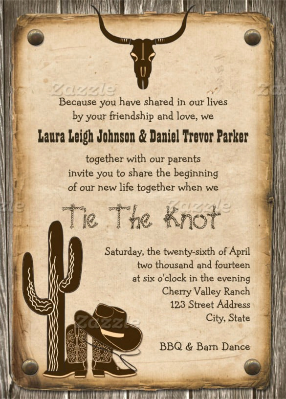 Cowboy Invitations Template Free Lovely Free Western Invitation Templates Free Western Wedding