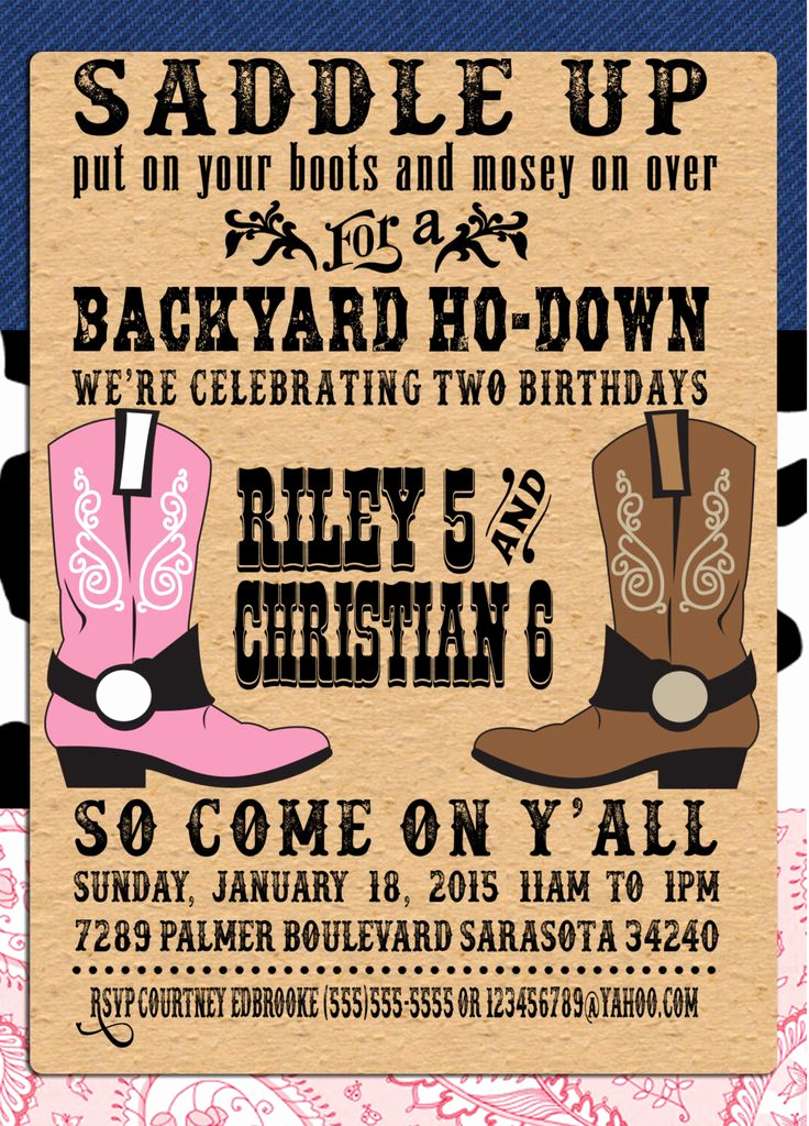 Cowboy Invitations Template Free Lovely Pin by Crafted by Yudi On Cowboy theme