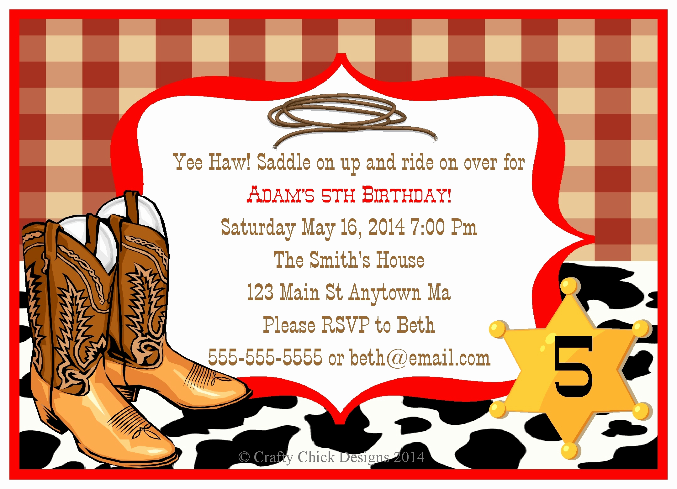 Cowboy Invitations Template Free Luxury Cowboy Birthday Invitation Template Templates Resume