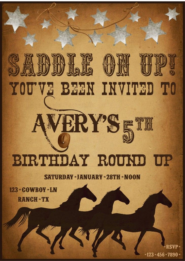 Cowboy Invitations Template Free New Country Western Day Ideas