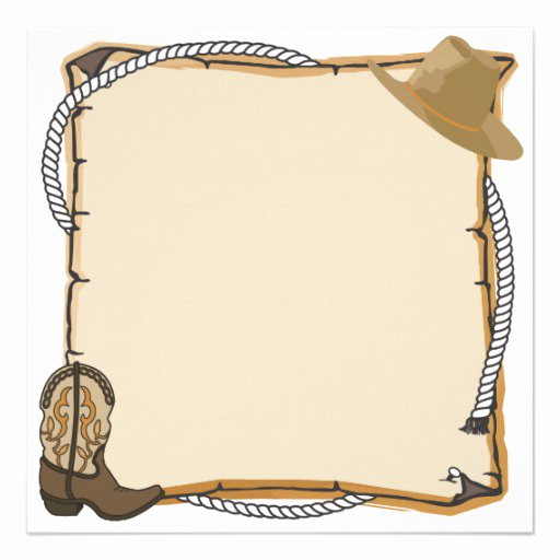 Cowboy Invitations Template Free New Western Party Invitation Blank Templates