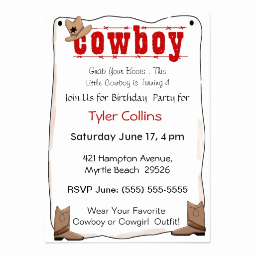 Cowboy Invitations Template Free Unique Cowboy Invitation Template Invitation Template
