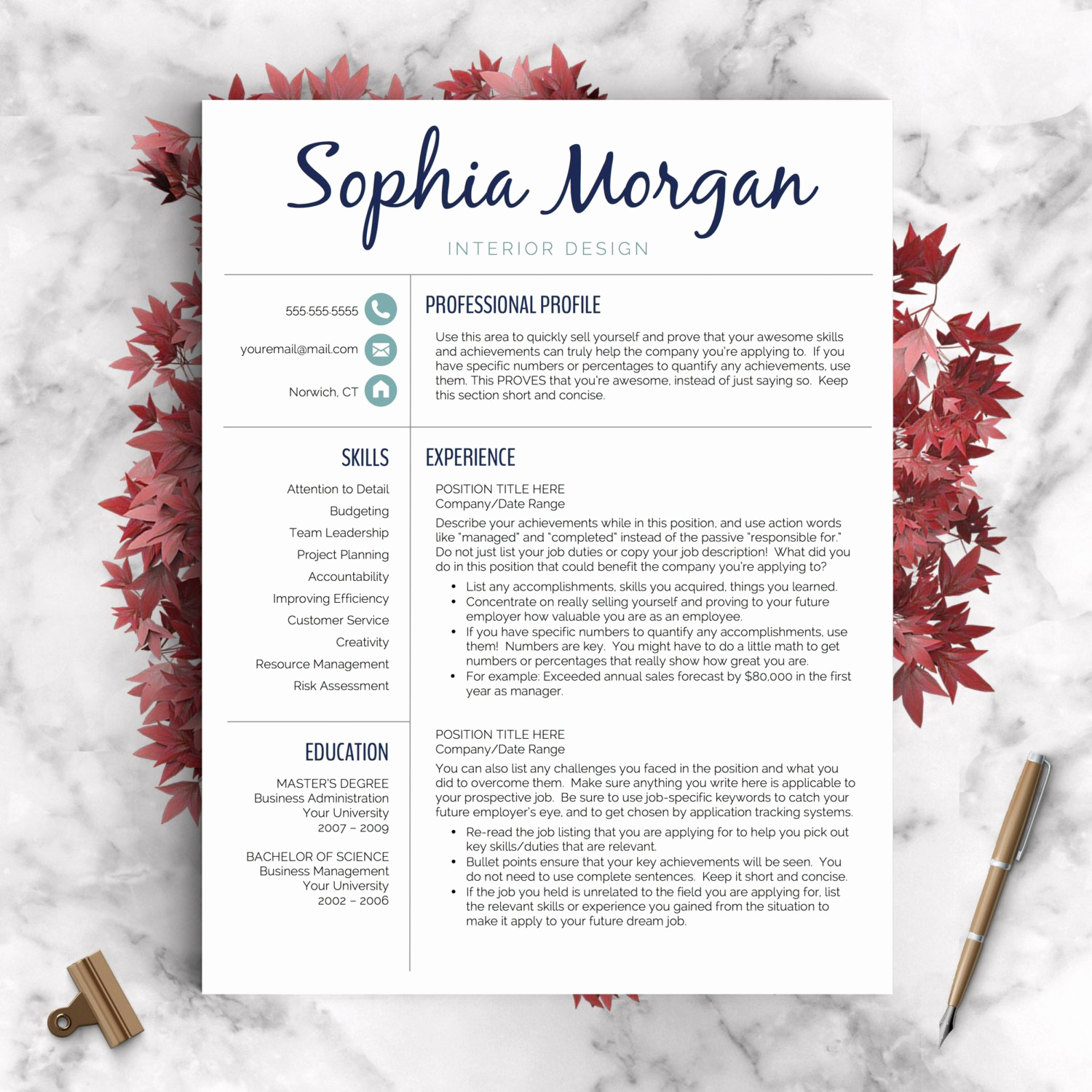 Creative Resume Template Word Awesome Creative Resume Template Resume for Word and Pages 1 2