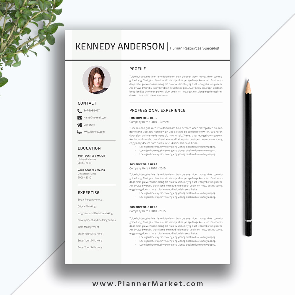 Creative Resume Template Word Awesome Professional Resume Template Cv Template Creative Simple