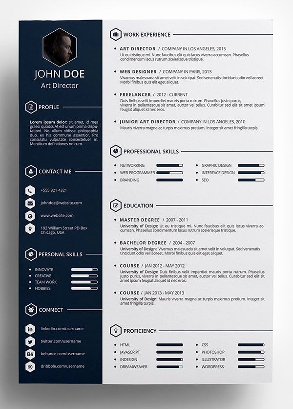 Creative Resume Template Word Best Of Best 25 Cv Template Ideas On Pinterest