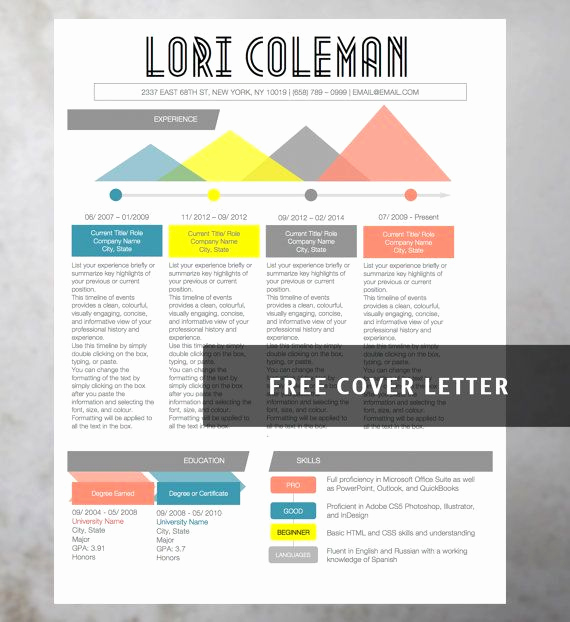 Creative Resume Template Word Best Of Infographic Creative Colorful Resume Collection 4 Resume